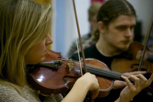 LGO musicians in rehearsal