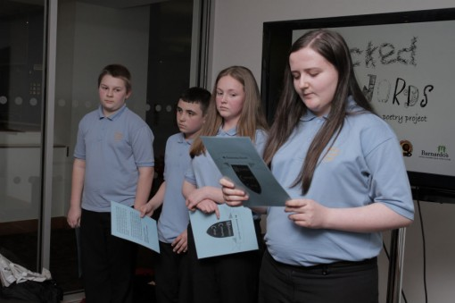 Michaelston Community College students reading their poems to the rest of the groups © Milciades Ortiz Multi Storey Media