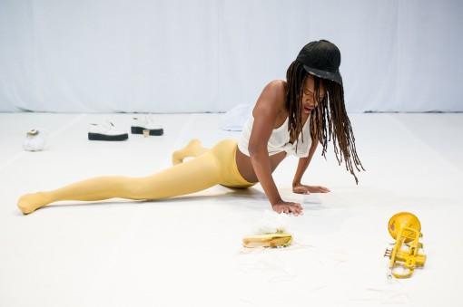 Dana Michel Yellow Towel © Ian Douglas
