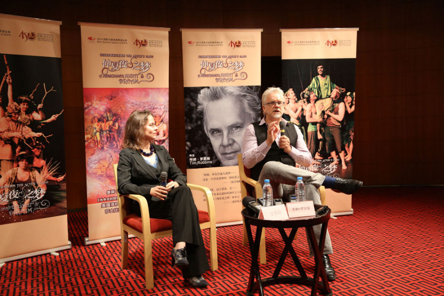 Alison Friedman and Tim Robbins © Gao Shang