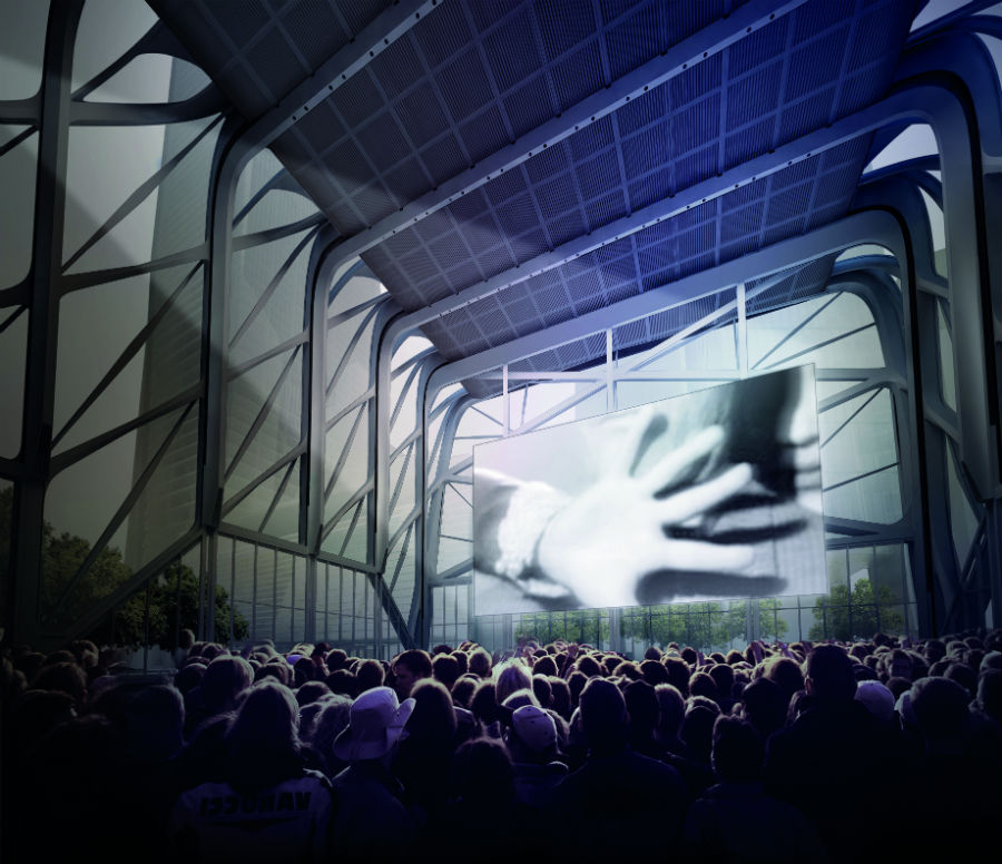 Culture Shed interior, courtesy of Diller Scofidio + Renfro in collaboration with Rockwell Group