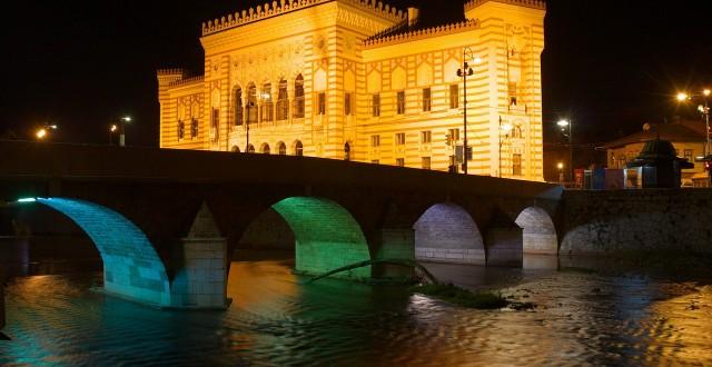 Town Hall in Sarajevo, Bosnia
