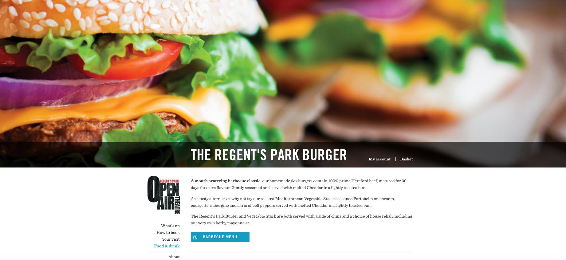 Regents Park Burger
