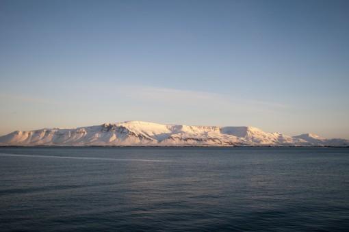View across Reykjavik harbour