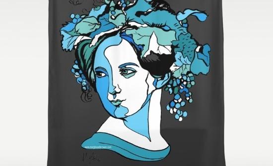 Fanny Mendelssohn Shower Curtain by Arty Margit