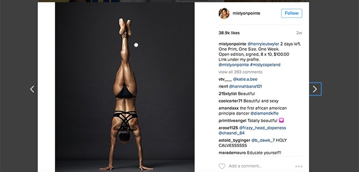 Misty Copeland on Instagram