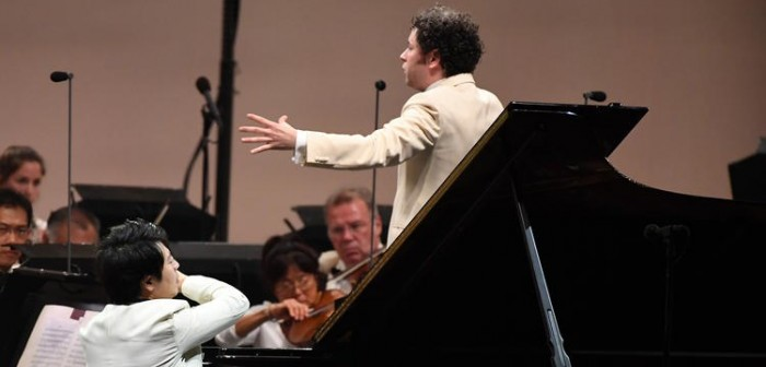 Lang Land and Gustavo Dudamel