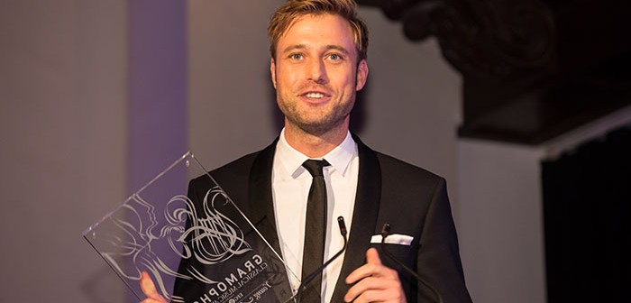 2016 Gramophone Young Artist of the Year Benjamin Appl receives his award © Ben Ealovega