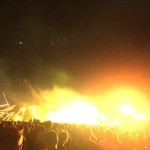 Fire on stage @ Tiësto / Creamfields