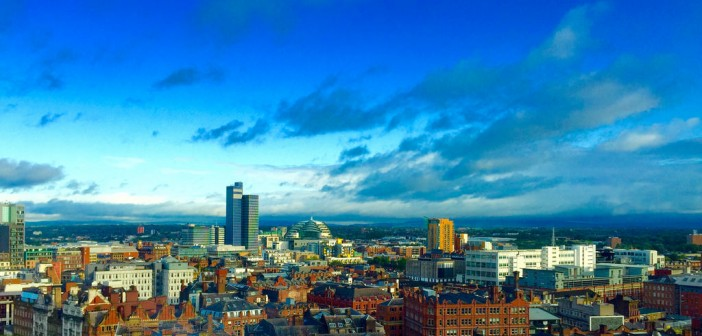 A view of the Manchester skyline from 111 Piccadilly, Manchester © www.tecmark.co.uk.