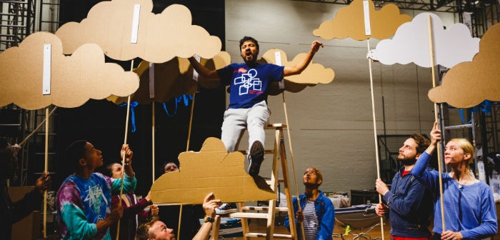 Saikat Ahamed (Tinkerbell) and the company rehearse Peter Pan (c) Steve Tanner