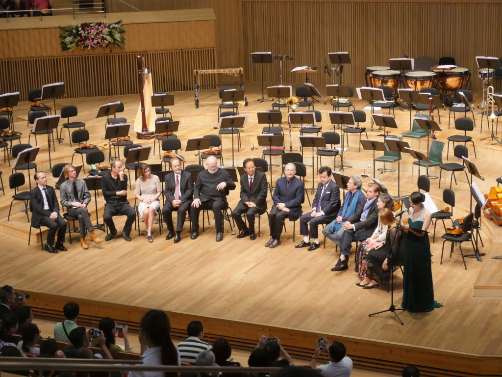 The 2016 Jury Committee of Schoenfeld International String Competition at Harbin Concert Hall, led by Lynn Harrell and Shlom