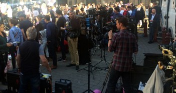 The world's media descend on Manchester