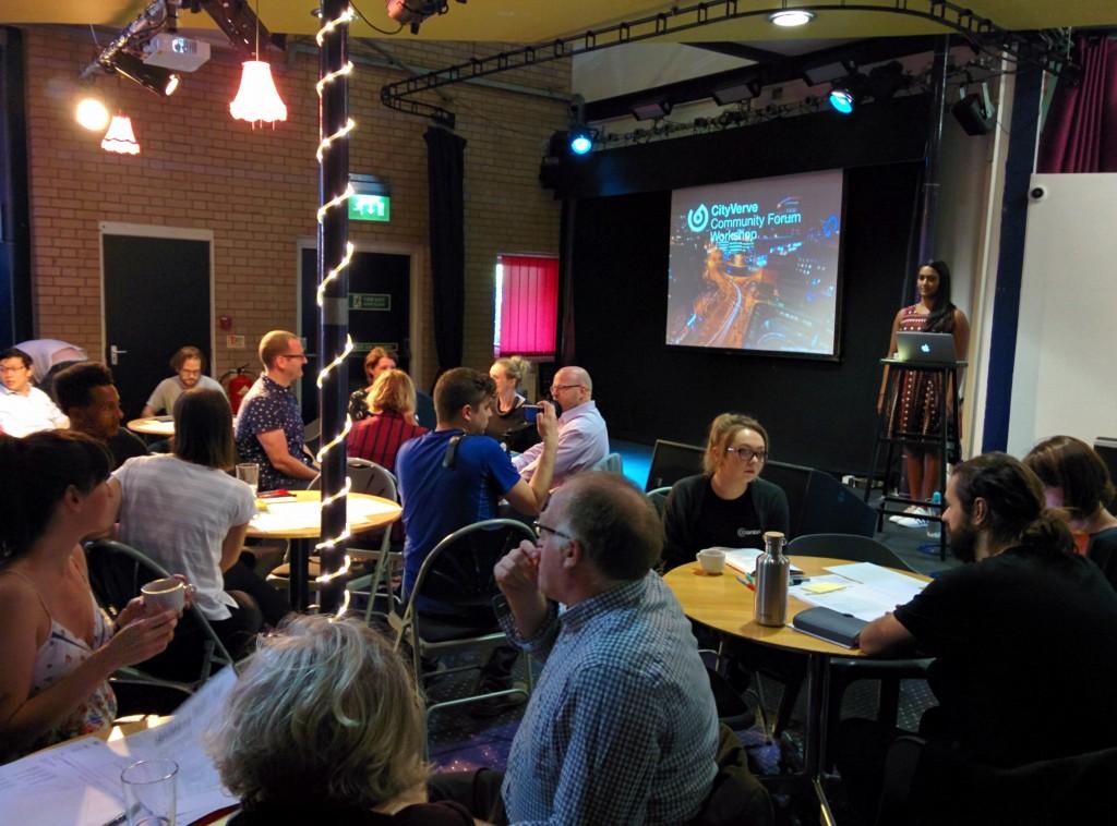 CityVerve workshop at Contact Theatre