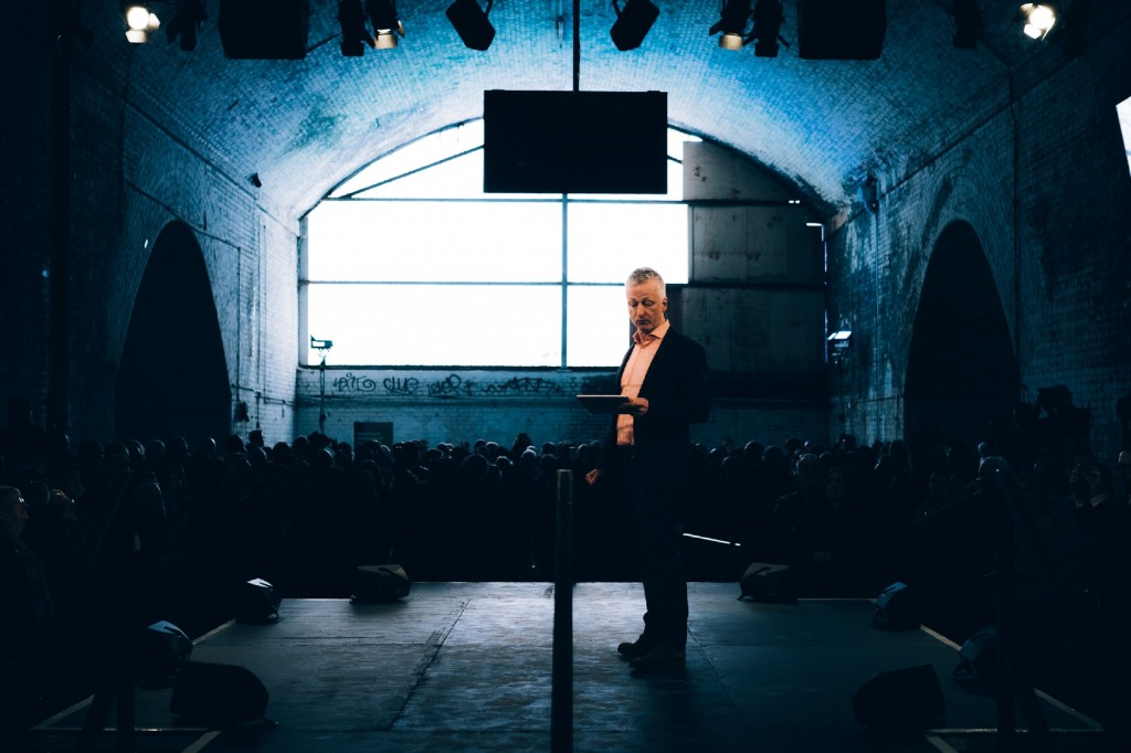 John McGrath at Manchester International Festival 2017 Launch at Mayfield Depot. Photo © Tarnish Vision