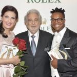 Adela Zaharia Levy Sekgapane with Plácido Domingo © Operalia