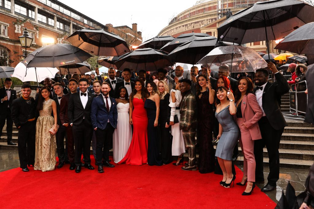 The cast of Hamilton at The Oliver Awards 2018 © Darren Bell