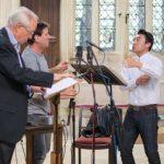 Bo Wang, John Rutter and Stephen Cleobury © KCC