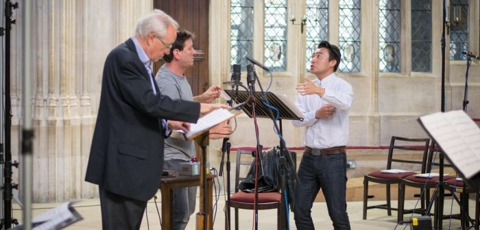 Bo Wang, John Rutter and Stephen Cleobury © KCC