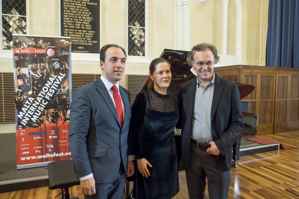 Alan Chircop, Anna Ulaieva and composer Alexy Shor