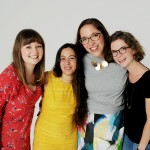 Left to right: Olivia Brown, Naomi Belshaw, Kat Alder and Carolin Denz © Tony Briggs