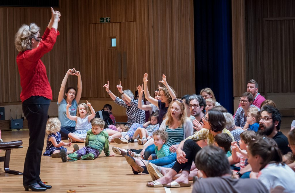 Children take part in an interactive concert