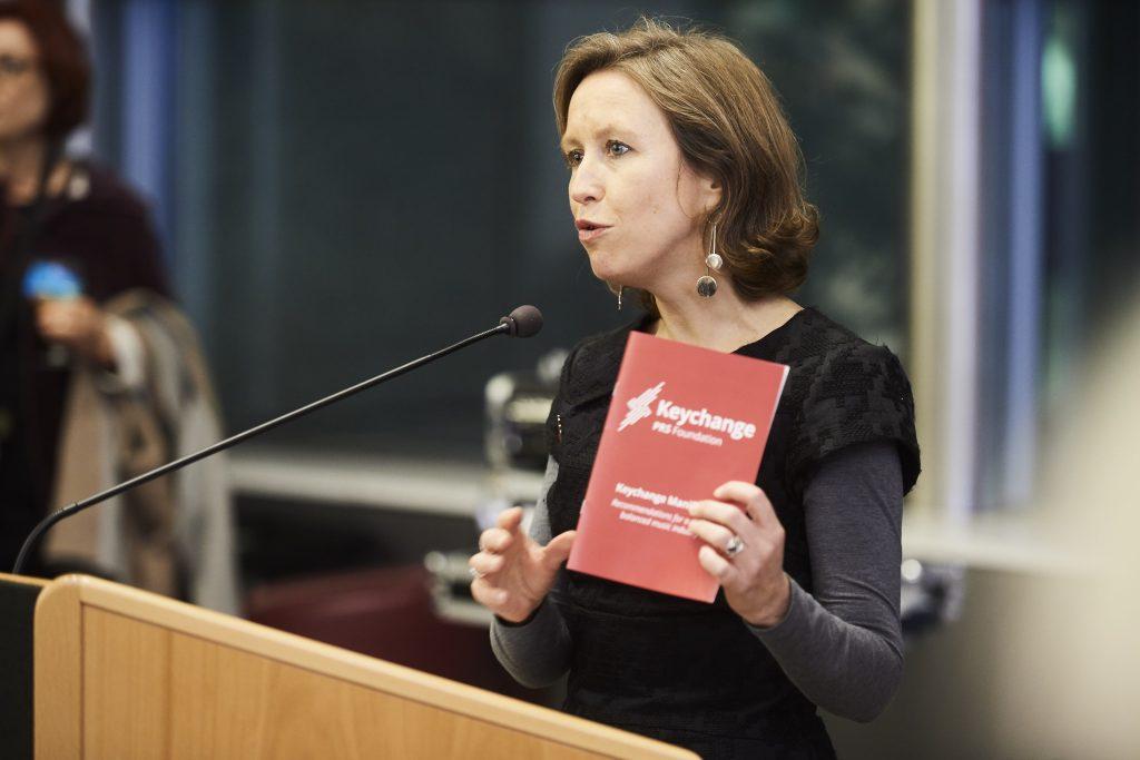 Vanessa Reed at the Keychange manifesto launch