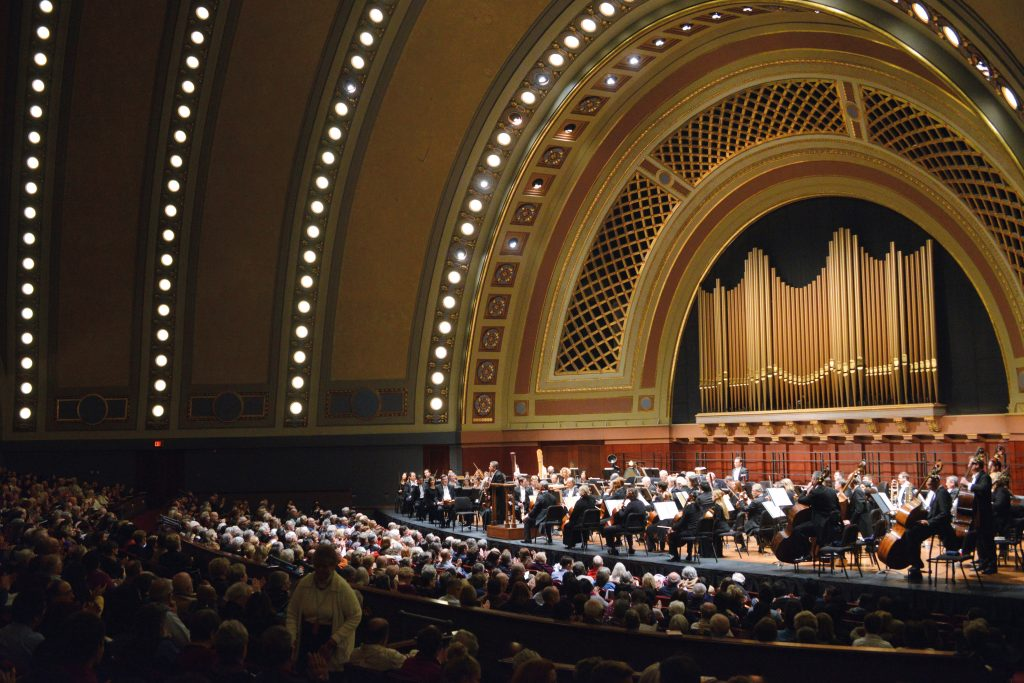 San Francisco Symphony performing for UMS at Hill Auditorium © Peter Smith