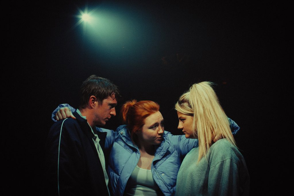 Island Town cast: (L-R) Jack Wilkinson, Katherine Pearce and Charlotte O'Leary