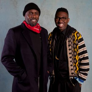 Idris Elba with Kwame Kwei-Armah, artistic director of the Young Vic Theatre © David Sandison