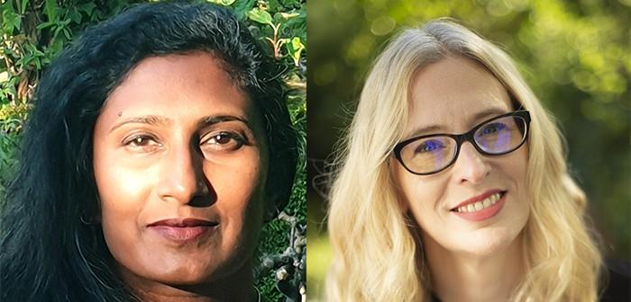 Subathra Subramaniam (© Quentin Cooper) and Kirsten Burrows (© Justin Jones)