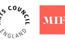 Arts Council England and MIF logos