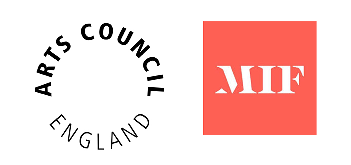 Arts Council England and MIF logos