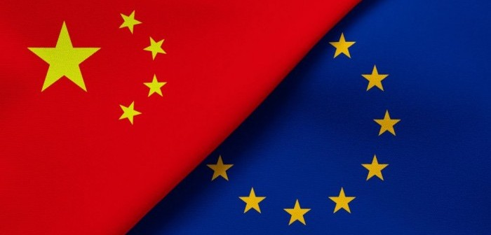 Europe and China flags