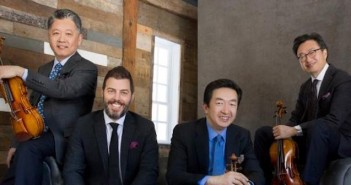 Yi-Wen Jiang – far left – with the Shangai Quartet