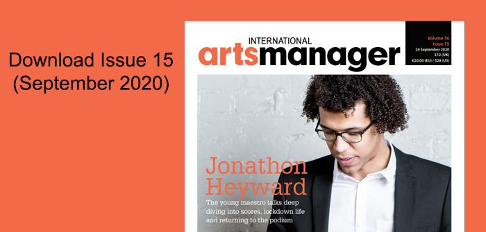 International Arts Manager Vol 16 issue 15 september 20