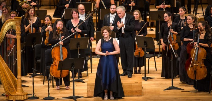 2018 AMP laureate Kelly-Marie Murphy with the Orchestre classique de Montréal at the 2018 AMP Gala Concert © Danylo Bobyk