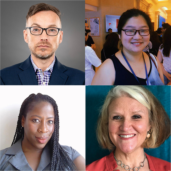 Clockwise from top left: Kristopher McDowell, Mengtong Guan, Theresa Yvonne and Francine Sheffield