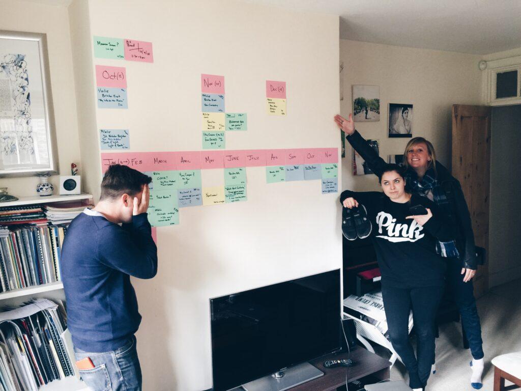 A Riot Ensemble planning meeting